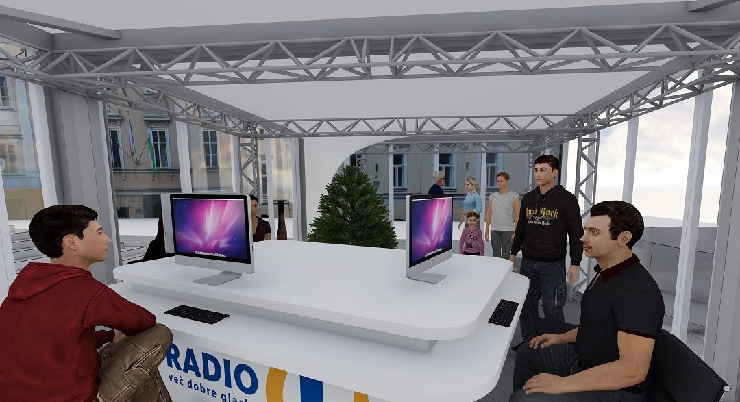 A 28-hour charity marathon at Mestni trg square (3D visualization)