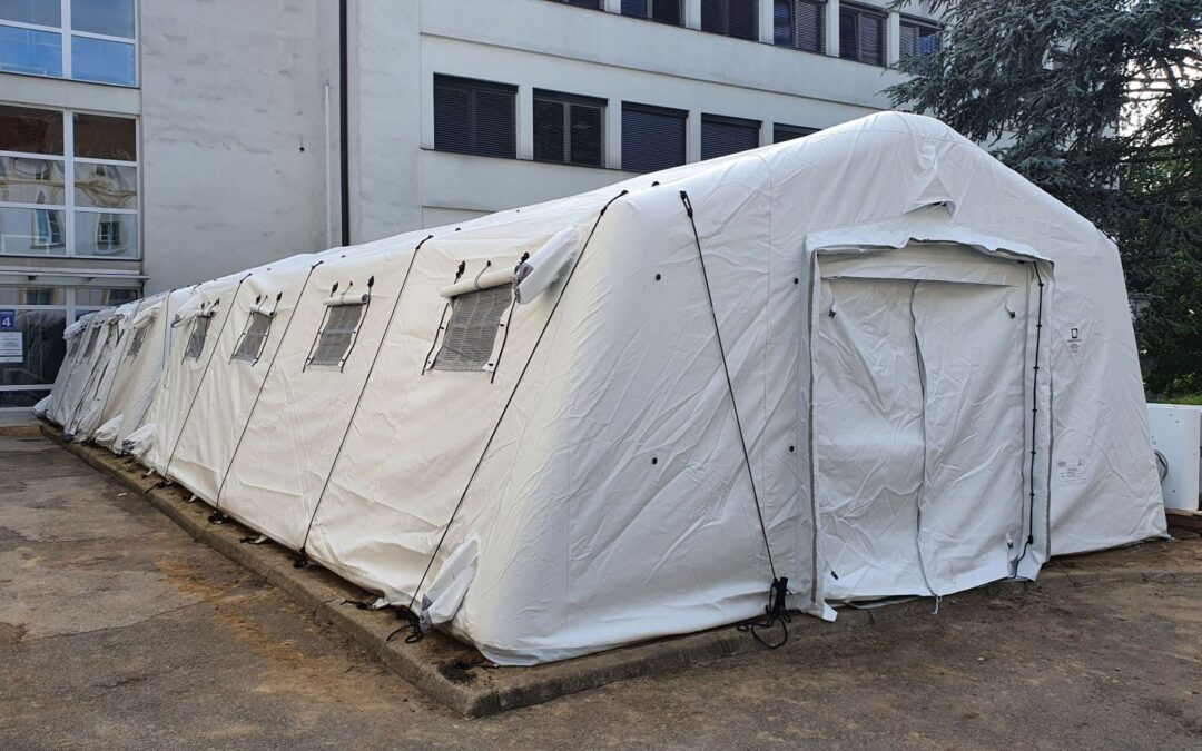Ptuj General Hospital with the TAG inflatable tent for health services